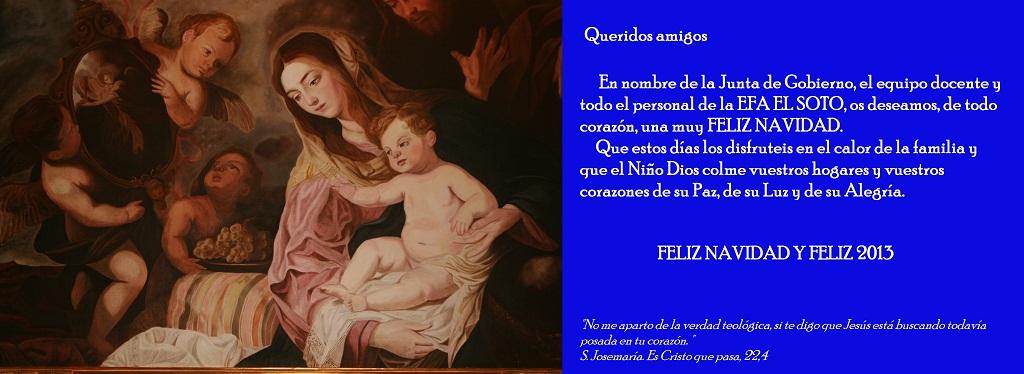 Felicitación de Navidad de la EFA EL Soto