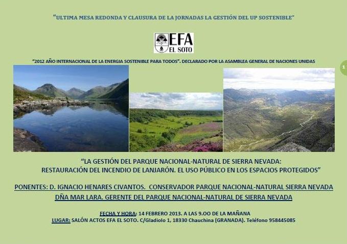 Clausura jornadas usos publicos EFA El Soto Feb'13