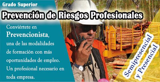 Ciclo de Prevención de Riesgos Profesionales semipresencial