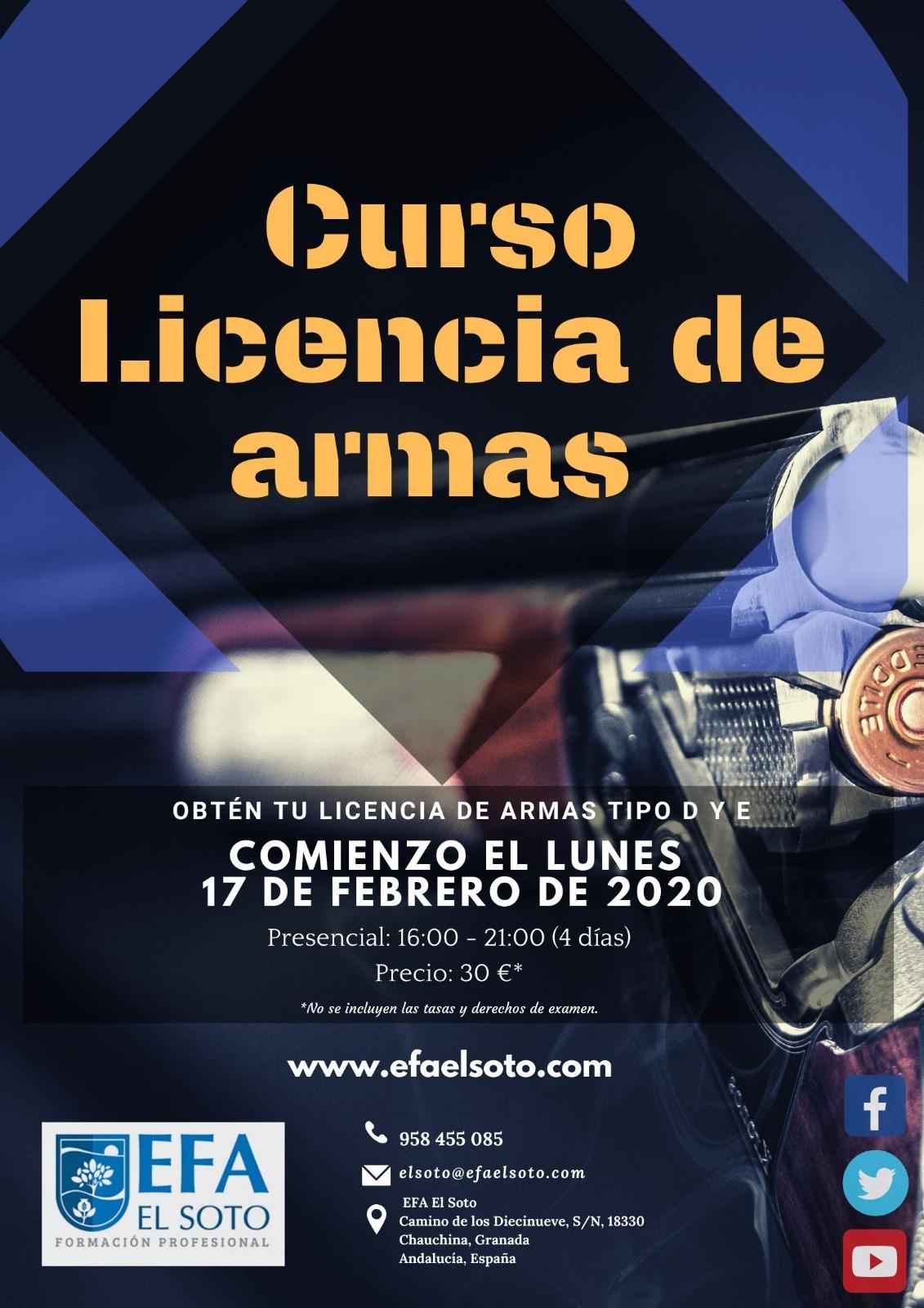 CURSO LICENCIA DE ARMAS