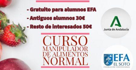 CURSO MANIPULADOR ALIMENTOS